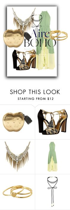 """""""aire boho"""" by lexiitaly ❤ liked on Polyvore featuring Dolce&Gabbana, Saloni, Gorjana and Miss Selfridge"""