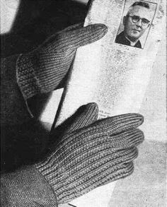 Ravelry: News Item Men's Gloves pattern by Vintage-free