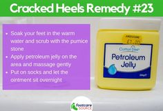30 Amazing Home Remedies for Dry Cracked Feet: Petroleum Jelly Cracked Feet Remedies, Foot Remedies, Dry Cracked Heels, Dry Skincare, Petroleum Jelly, Soft Feet, Natural Moisturizer, Tea Tree Oil, Feet Care