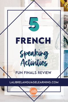 These 5 speaking and listening activities for French class get your French 1 and French 2 students up and moving to review for quizzes, IPAs, and speaking finals! Your middle school or high school French immersion class is ready to switch it up while working on their interpersonal speaking skills - have fun in class with these French activities for proficiency based classrooms! These French teacher ideas will be part of your regular rotation in your French curriculum. #frenchspeakingactivity High School Activities, Listening Activities, Vocabulary Activities, Teaching Activities, Teaching Ideas, French Teaching Resources, Teaching French, Teacher Resources, High School French