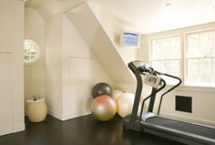 Rustic Canyon New Home - Transitional - Home Gym - Los Angeles - Tim Barber LTD Architecture & Interior Design