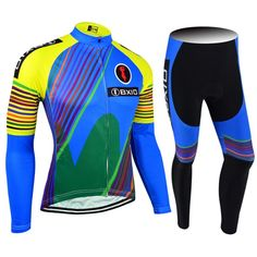 BXIO Cycling Jersey Pant No Bib OEM Bicycle Wear Ropa Ciclismo Blue Cycling  Clothing Full Zipper 3bc562d3e