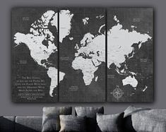 Current Push Pin World Travel Map / Canvas Map Art World Map Cow Canvas, Canvas Wall Art, Push Pin World Map, World Map Canvas, Hacks, Extra Large Wall Art, Travel Maps, Map Art, Trip Planning