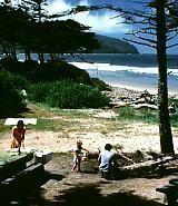 Cape Lookout State Park - SW of Tillamook, Oregon.  Campground, group tent, fishing, hiking, wetland, restrooms, picnic, beach access, yurts, cabins, teepees, nature programs, hang gliders, paragliders, Jackson Creek Trail.