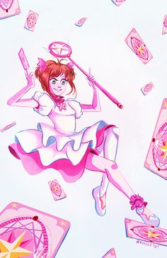 Last minute print for ANext! My favorite magical girl of all time.