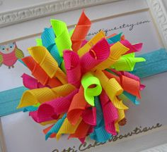 Hair Bow Korker  Tropical Dreams Korker Hair by PattiCakeBowtique, $6.00