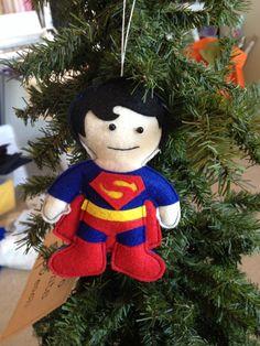 Superman Felt Ornament
