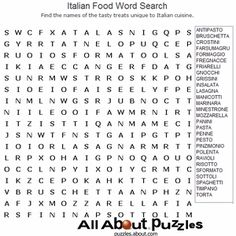 word printable puzzles games italian searches drink words italy activities find adult crossword coloring puzzle hard wordsearch language social map