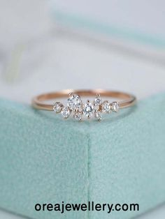 Rose Gold Engagement RingDiamond Cluster ringFlower Wedding ring Mini Twig Bridal Jewelry Unique Stacking ring Anniversary Gift for her - Rose Gold Verlobungsring Diamant Cluster-Ring Blume Hochzeit - Diamond Cluster Engagement Ring, Gold Engagement Rings, Diamond Wedding Bands, Diamond Rings, Flower Wedding Rings, Bridal Rings, Leaf Wedding Band, Delicate Engagement Ring, Solitaire Rings