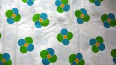 2.9 yds Fun 1960s Geometric Floral Print by JennyHaniverVintage, $19.00