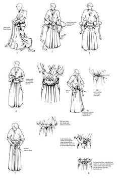 Hakama are a traditional Japanese-type of clothing with divided legs similar to pants. Hakama are secured by four straps or himo; two longer himo atta...