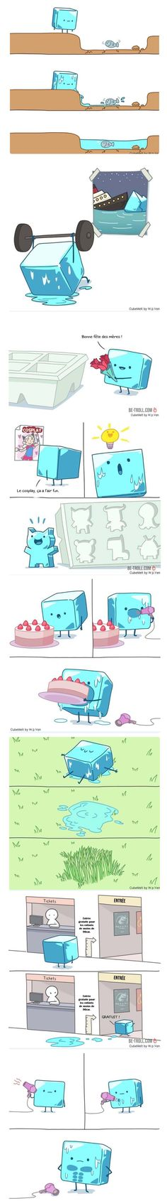 The Adventures of an Ice Dice Chapter 1 Cute Comics, Funny Comics, Really Funny, Funny Cute, Funny Jokes, Hilarious, Comic Strips, Cool Photos, Funny Pictures