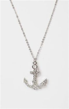 short necklace with anchor charm - 1000048722 - debshops.com