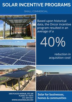 Take advantage of solar incentives for small commercial installations!