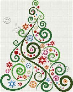 Abstract Christmas Tree No2 Cross Stitche
