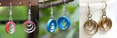 Learn how to make these adorable multi circle paper quilled earrings with step by step pictures and many tips and tricks!