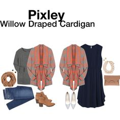 """""""Willow Draped Cardigan"""" by hanger731x on Polyvore"""