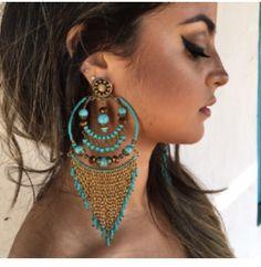 Nine West Silver-Tone Twisted Hoop Earrings – Fine Jewelry & Collectibles Stylish Jewelry, Ethnic Jewelry, Wire Jewelry, Boho Jewelry, Jewelry Crafts, Jewelery, Fashion Jewelry, Chandelier Earrings, Beaded Earrings