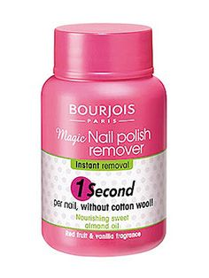 Known as 'magic in a pot', this nail polish remover will get your old varnish off in seconds. All you need to do is dip, twist and remove your fingers from the pot. Clever huh? Removing stubborn glittery varnish takes slightly longer but it's still an improvement on cotton wool. Bourjois Magic Nail Polish Remover, £4.99, Boots