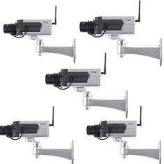 5X Fake Dummy Wirelesss CCTV Security Camera Motion Detection Flashing Red LED