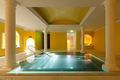 Spa visits include access to a Roman bath (pictured), sauna and The Yeatman's indoor panor...