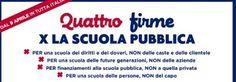 Quattro firme per la scuola pubblica