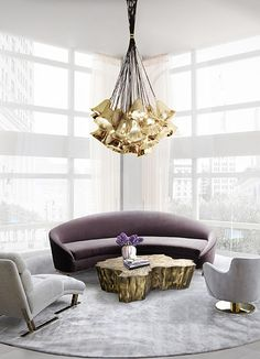 @koket Projects with Gia chandelier, Vamp Sofa http://www.bykoket.com/projects.php