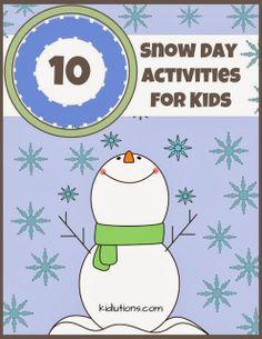 10 Snow Day Activities: Indoor and Outdoor Activities! #parentingtips #play