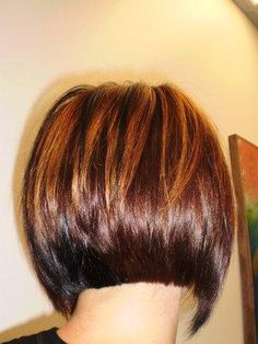 a line hair back view Short Bob Haircuts, Bob Hairstyles, Short Hair Cuts, Short Hair Styles, A Line Hair, Haircut Pictures, Haircut And Color, My Hairstyle, Hair Health