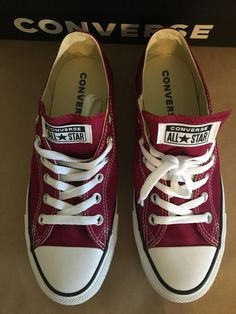 1e14fcc1611c Converse Shoes Chuck Taylor All Star Ox Mens Womens Low Top Maroon Sneakers