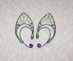 Elf Ear Cuffs - Fairy Leaf - Bonus Gift Box - Elven Jewelry. $35.00, via Etsy.