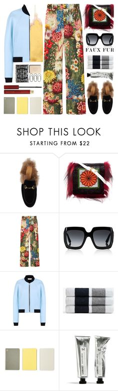 """""""Wow Factor: Faux Fur"""" by barbarela11 ❤ liked on Polyvore featuring Gucci, Fendi, Balenciaga, James Perse, Monocle, Kevyn Aucoin, gucci, fauxfur and polyvoreeditorial"""