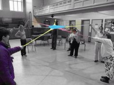 A busy day at the Skipton Feel Good programme! What fun we had with our new props!! This one is called an octaband.
