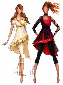 Creative Costuming & Designs These would have been PERFECT for my show this years, the entire angels versus demon thing! Creative Costuming Designs, Creative Costumes, Dance Outfits, Dance Dresses, Color Guard Costumes, Colour Guard, Color Guard Uniforms, Winter Guard, Dance Costumes