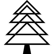 Resultado de imagem para arvore de natal triangulos