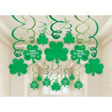 St. Patrick's Day ceiling decorations 30th Party, Party Packs, St Pattys, St Patricks Day, St Patrick's Day Decorations, Halloween Decorations, Cut Outs, Etsy Crafts, Luck Of The Irish