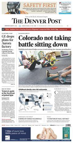 Wednesday, August 7, 2013 Denver Post A1.