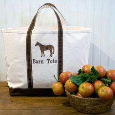 Barn tote from The Elegant Setting.