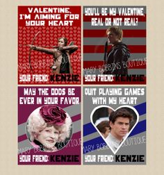 Printable DIY Hunger Games Valentine's by MaryBobbinsBoutique, $5.00