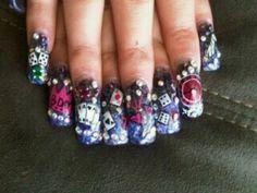 21st bday vegas nails