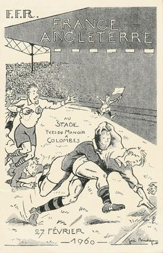 France v/s England match in february 1960