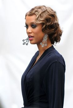 Tyra Banks Updo | Высокая причёска под ретро