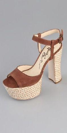 b8bfd51c23e Alice and Olivia Thelma US 10 UK 7 EU 4 Platform Sandals Brown Leather Heel  USA