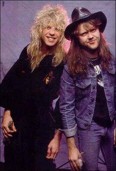 Steven Adler and Lars Ulrich (Metallica drummer)