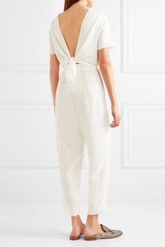 White cady Concealed hook and zip fastening at back 73% triacetate, 27% polyester; upper lining: 100% silk; lower lining: 93% cupro, 7% elastane Dry clean Made in Italy
