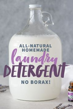 Don't shell out all your money for natural laundry detergents. Make your own bor. - Don't shell out all your money for natural laundry detergents. Make your own borax-free laundry d - Homemade Cleaning Products, Cleaning Recipes, Natural Cleaning Products, Cleaning Hacks, Household Products, Household Tips, Natural Laundry Detergent, Homemade Laundry Detergent, Eco Friendly Laundry Detergent