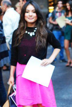 THN: New York Fashion Week Outside Oscar De la Renta Show