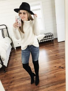 4e71abe4a 13 ways to style over the knee boots. - dress cori lynn Casual Outfits 2018