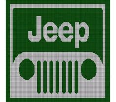 Jeep Crochet Pattern Afghan Graph $3.50 | Crochet | Pinterest