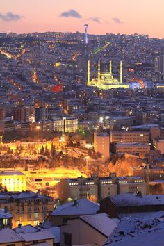 Evening View of Ankara, Turkey